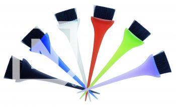 Pensula colorata lata pentru aplicat vopsea